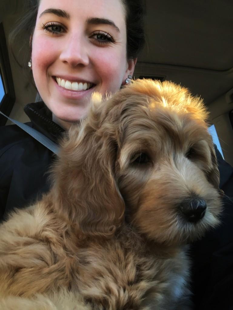Alexandria Yurosko - host of the @summitpeeks Instagram account the week of June 2 - and her dog