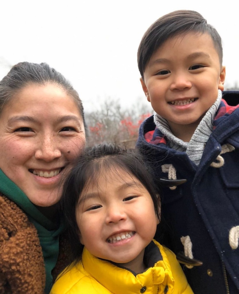 Nat Hans (and her two children), the Everyday Akron host for the week of February 23, 2020
