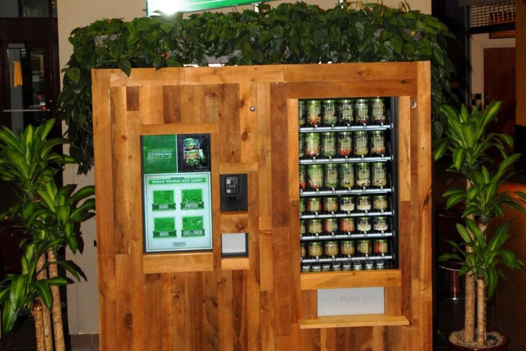 vending machine of pre-jarred salads