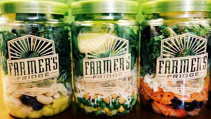 3 jars of fresh salad mix and toppings