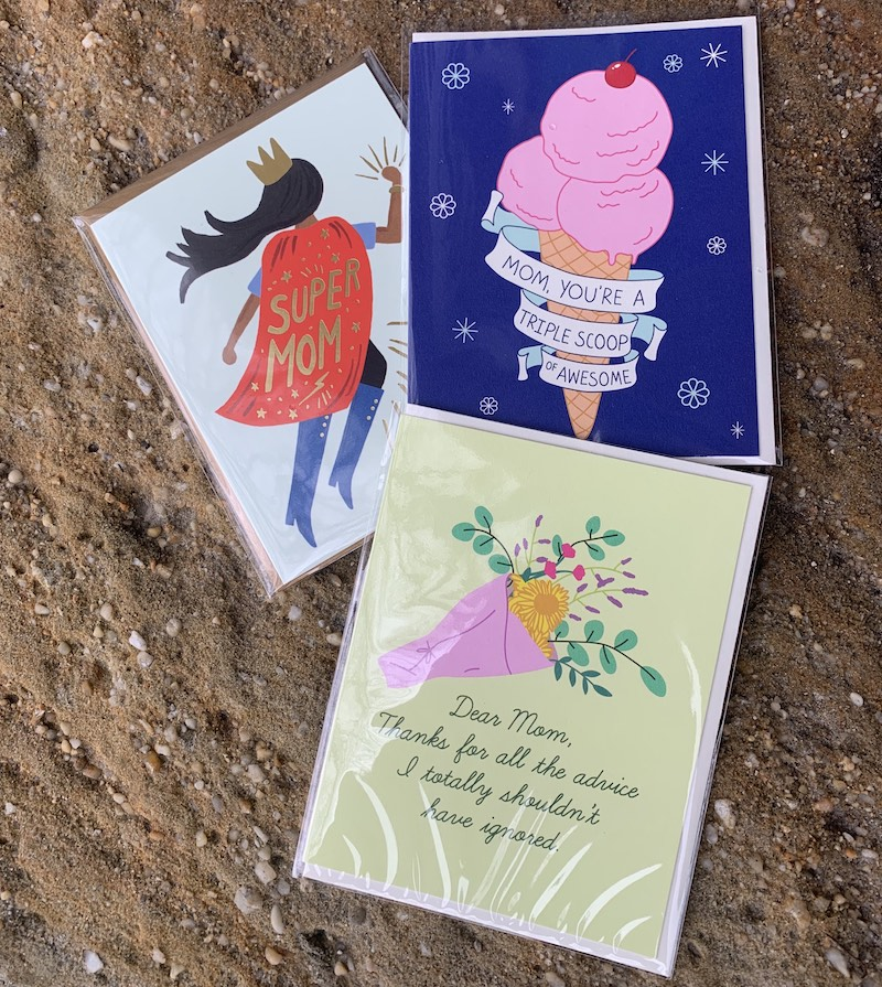 assortment of Mother's Day cards available at The Gardener of Bath